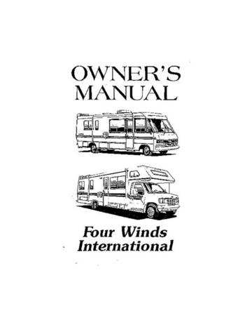 1993 Thor Four Winds RV Owner's Manual Brochure