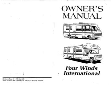 1994 Thor Four Winds Owner's Manual Brochure
