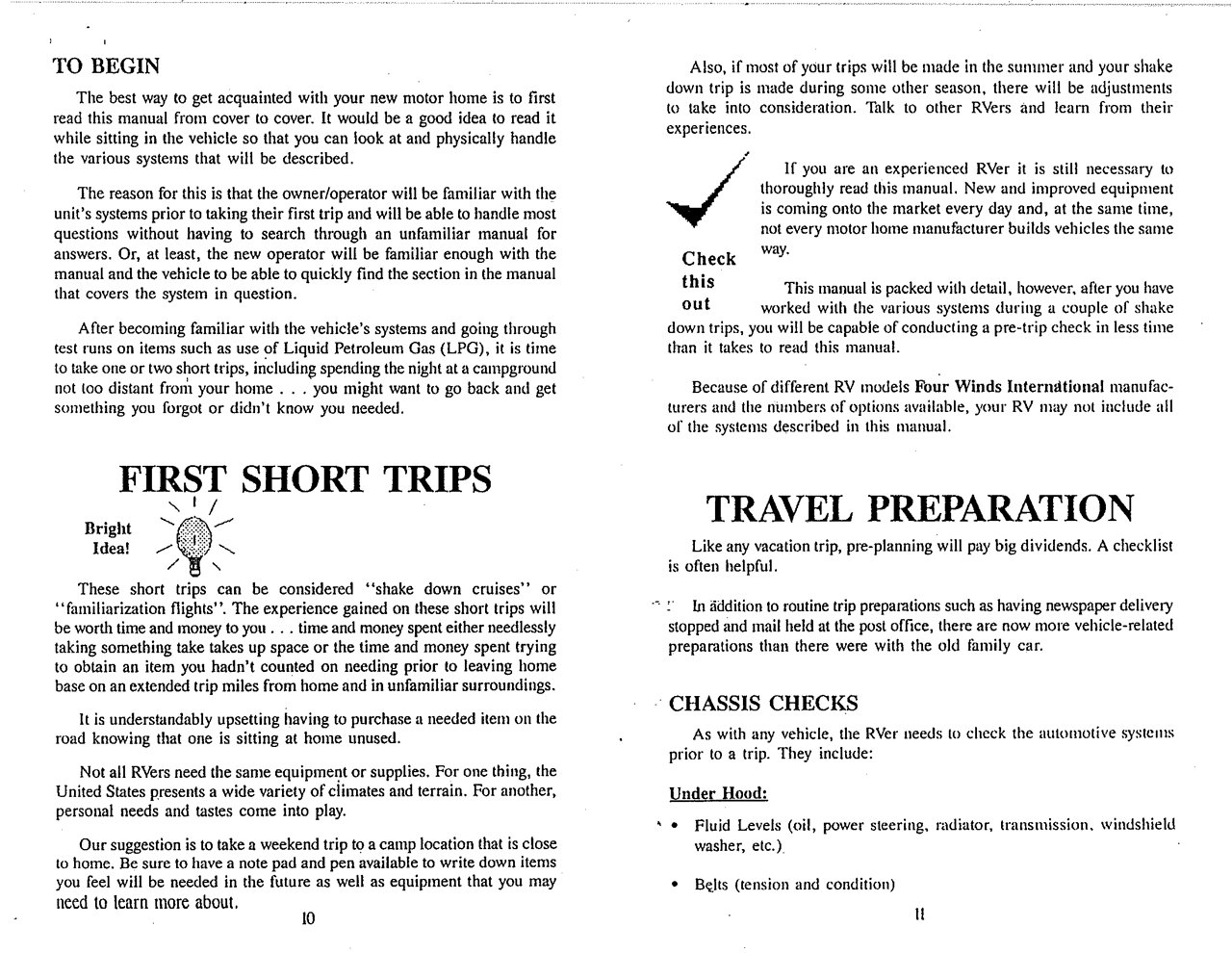 Fourwinds Rv Manuals