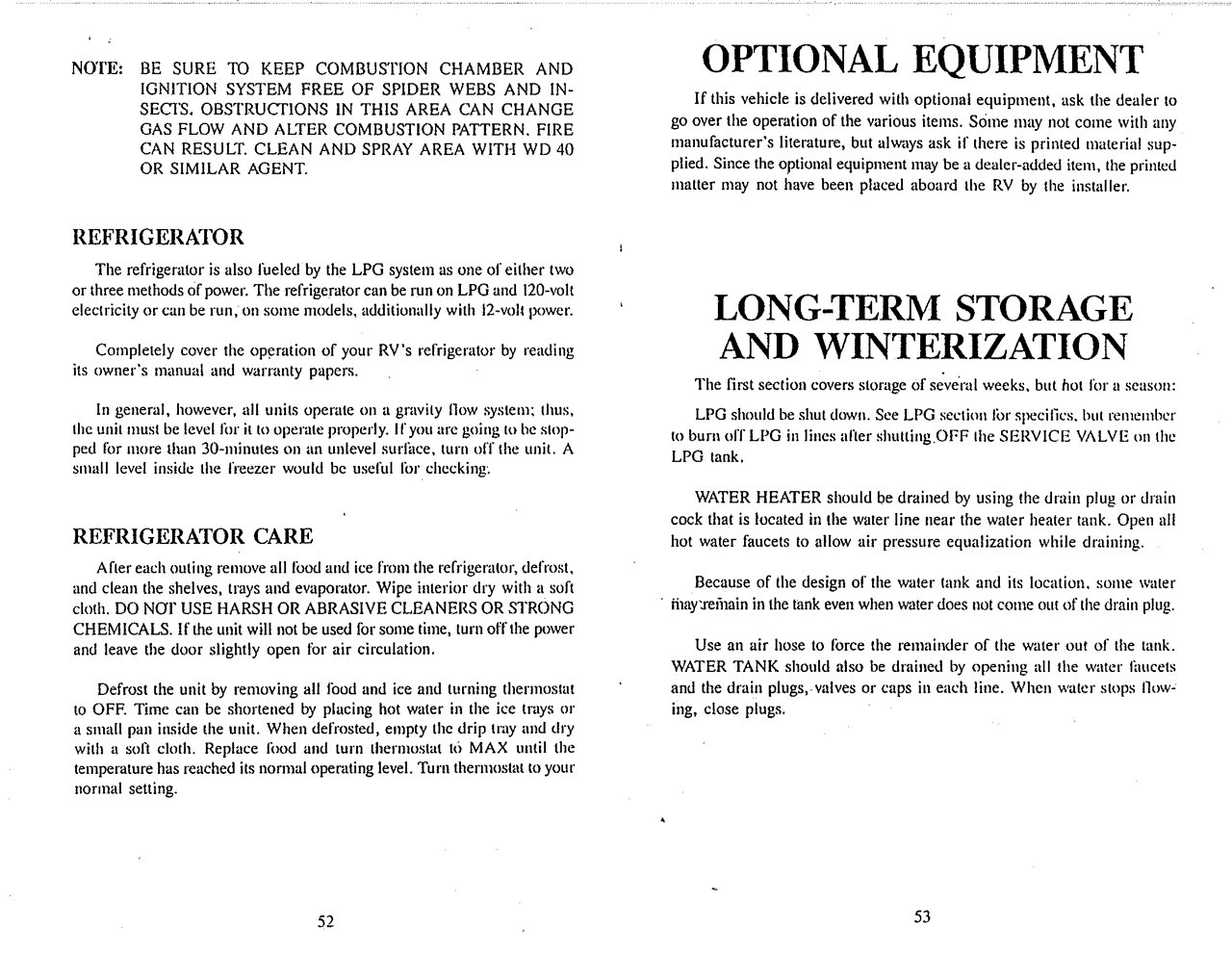 1994 Thor Four Winds Owner's Manual Brochure   Download RV