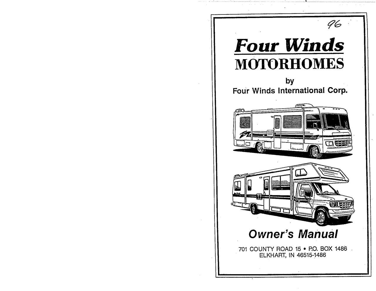 1996 thor four winds owner s manual brochure rv brochures download rh recreationalvehicles info RV Owners ManualsOnline four winds motorhome owners manual