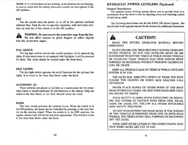 1996 Thor Hurricane Owner's Manual Brochure page 24