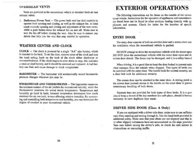 1996 Thor Hurricane Owner's Manual Brochure page 29