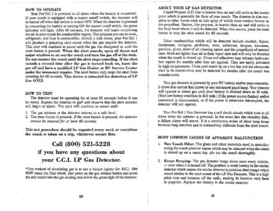 1996 Thor Hurricane Owner's Manual Brochure page 34