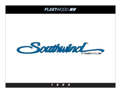1999 Fleetwood Southwind Brochure page 1