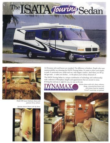 2000 Dynamax Isata Touring Sedan Brochure