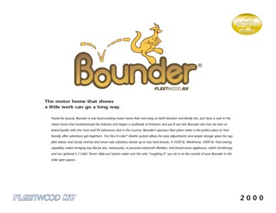2000 Fleetwood Bounder Brochure page 1