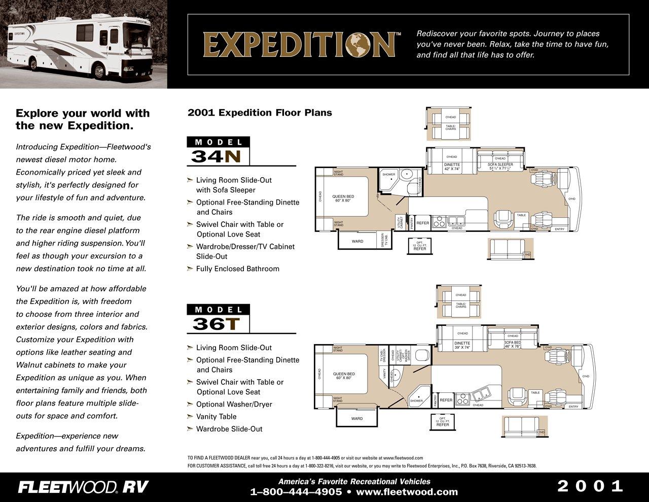 2000 fleetwood rv floor plans for Kentucky dream homes floor plans