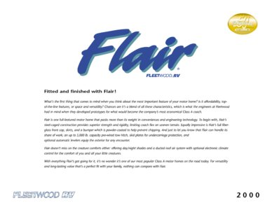 2000 Fleetwood Flair Brochure page 1