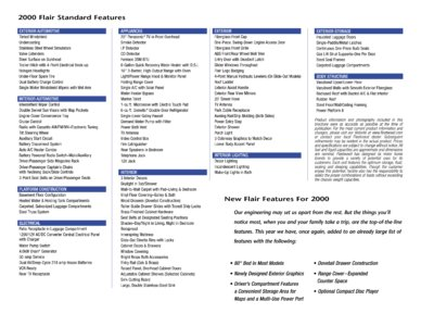 2000 Fleetwood Flair Brochure page 4