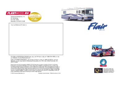 2000 Fleetwood Flair Brochure page 7