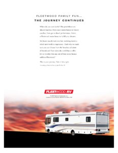 2001 Fleetwood Bounder Brochure page 14