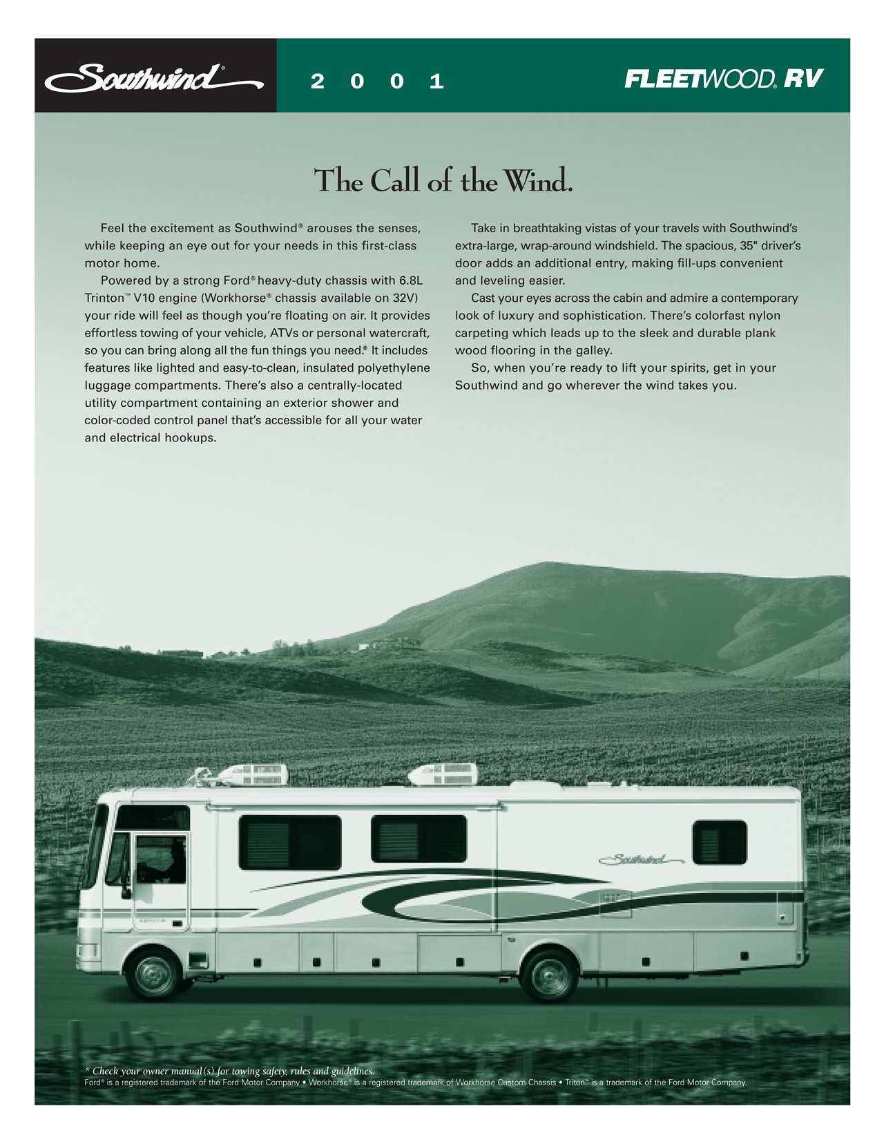Fleetwood Southwind Rv Wiring Diagram Ferguson To 20 1989 Bounder 2001 Brochure Literature Page 005