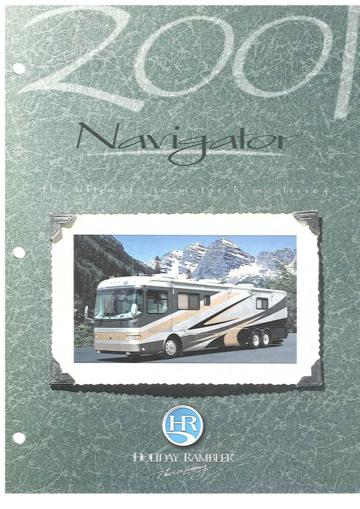 2001 Holiday Rambler Navigator Brochure