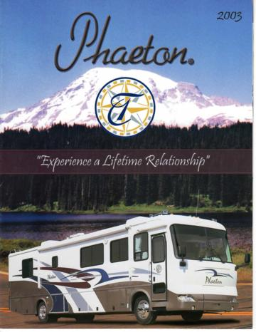2003 Tiffin Phaeton Brochure