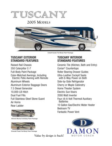 2005 Thor Tuscany Features Brochure