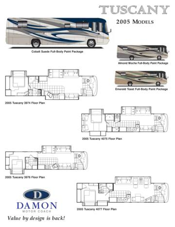 2005 Thor Tuscany Floor Plans Specifications Brochure