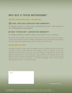 2005 Tiffin Allegro Bus Brochure page 16