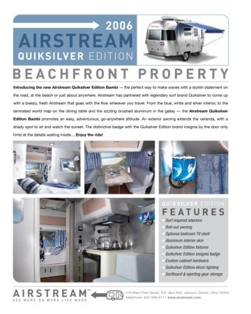 2006 Airstream Quiksilver Edition Brochure