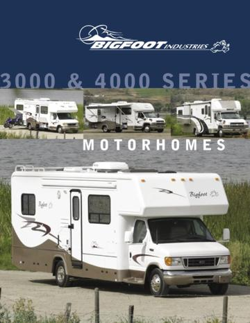 2006 Bigfoot 3000 And 4000 Series Motorhomes Brochure