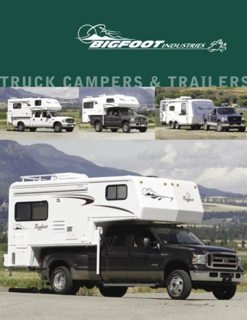 2006 Bigfoot Truck Campers Trailers Brochure