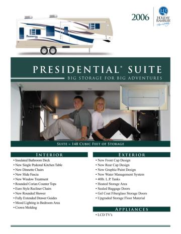 2006 Holiday Rambler Presidential Suite Brochure