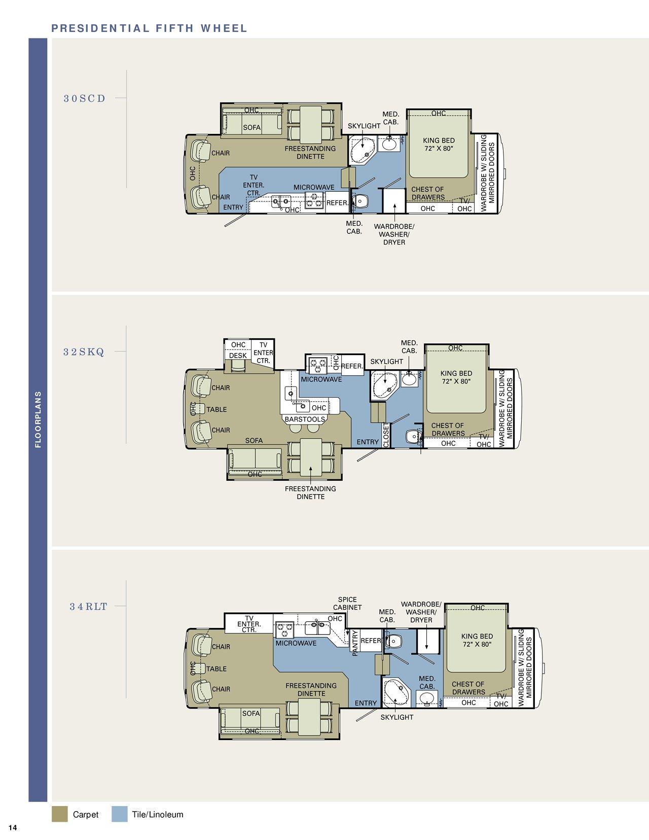 2006 Holiday Rambler Presidential Floor Plans Floor Matttroy