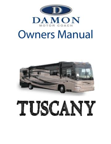 2006 Thor Damon Tuscany Owner's Manual Brochure