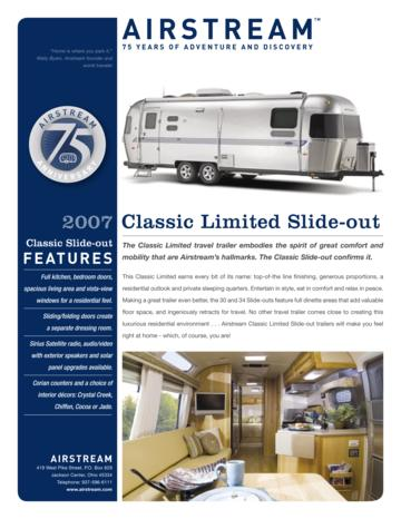 2007 Airstream Classic Limited Slide Out Brochure