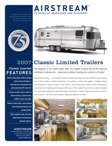 2007 Airstream Classic Limited Brochure
