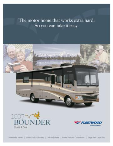 2007 Fleetwood Bounder Brochure