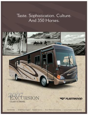2007 Fleetwood Excursion Brochure