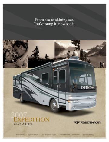 2007 Fleetwood Expedition Brochure
