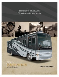 2007 Fleetwood Expedition Brochure page 1