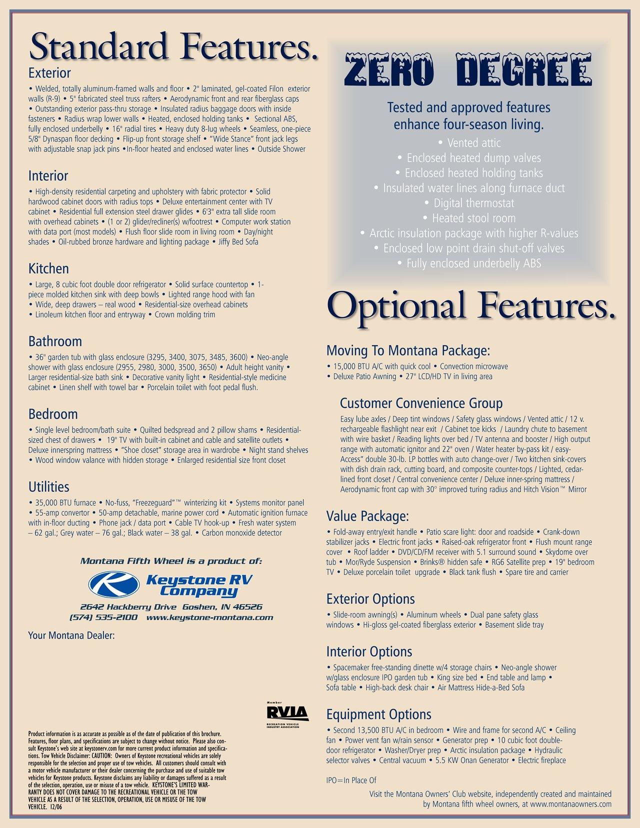 2007 Keystone RV Montana Brochure   RV brochures download