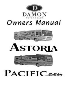 2007 thor damon astoria owner s manual brochure rv brochures download rh recreationalvehicles info Motorhome Owners Manuals Fleetwood RV Owners Manual