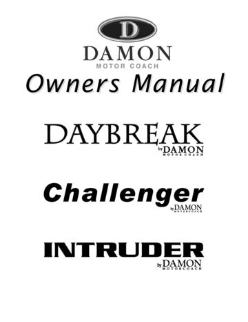 2007 Thor Damon Intruder Owner's Manual Brochure