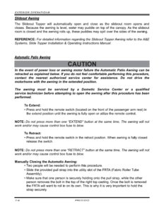 2007 Thor Four Winds Presido Rv Owner's Manual Brochure page 100