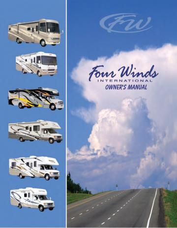 2007 Thor Fun Mover Toy Hauler Owner's Manual Brochure