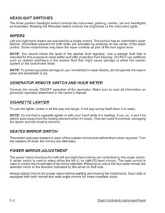 2007 Thor Hurricane Owner's Manual Brochure page 57