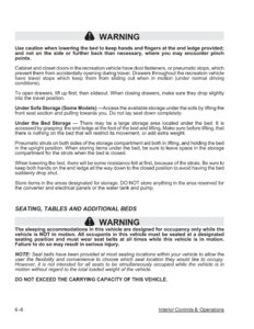 2007 Thor Hurricane Owner's Manual Brochure page 73