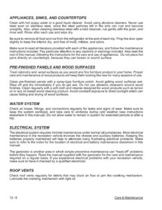 2007 Thor Hurricane Owner's Manual Brochure page 127
