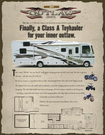 2007 Thor Outlaw Brochure
