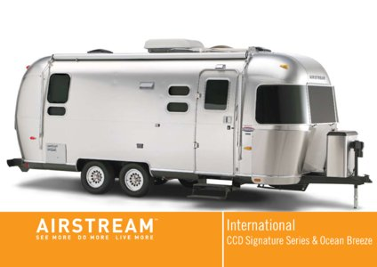 2008 Airstream International Brochure page 1
