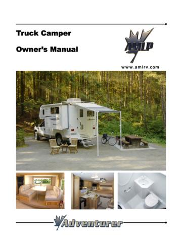 2008 ALP Adventurer Truck Campers Owner's Manual