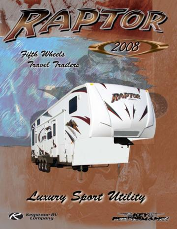 2008 Keystone RV Raptor Brochure