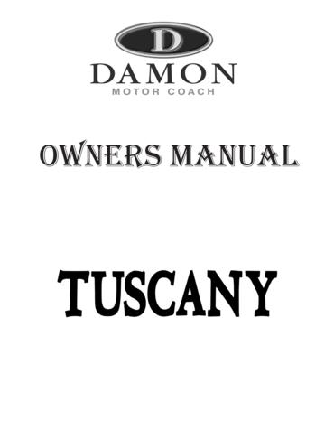 2008 Thor Tuscany Owner's Manual Brochure