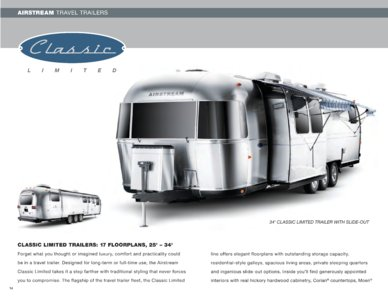 2009 Airstream Classic Limited Brochure page 1