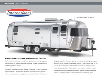 2009 Airstream International Brochure