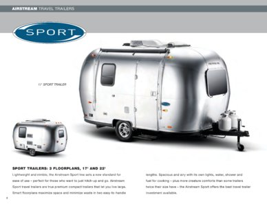 2009 Airstream Sport Brochure page 1